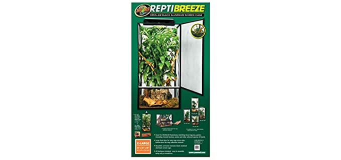 Zoo Med Repti-Breeze Open Air Screen Cage - Chameleon Enclosure