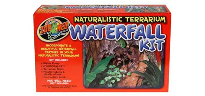 Zoo Med Naturalistic Terrarium Waterfall Kit - Reptile Fogger and Humidifier
