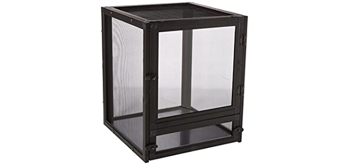 Zoo Med Labs Nano Breeze Aluminum Screen Cage - Cage for Chameleons