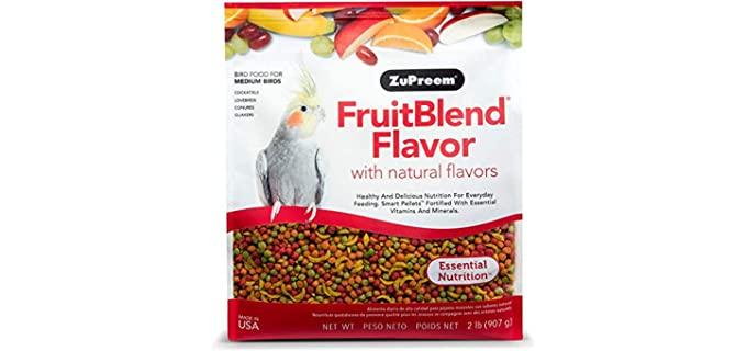 ZuPreem FruitBlend Flavor Pellets Bird Food - Parrot Food
