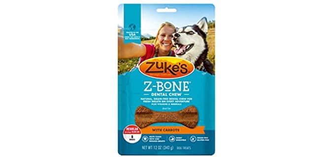 Zuke's Dental Chew Dog Treats - Teeth Cleaning Chews for Dogs