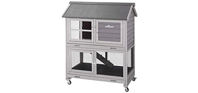 Aivituvin Two-Story - Outdoor Rabbit Hutch