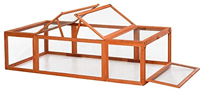 Pawhut Large Outdoor - Outdoor Hutch for Rabbits
