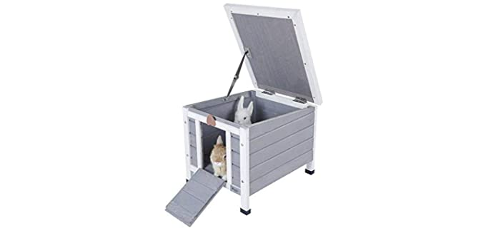 Petsfit Outdoor Shelter - Outdoor Hutch for Rabbits