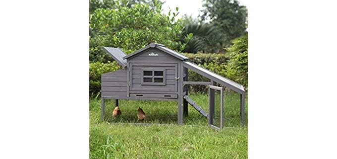 Aivituvin Wooden Chicken Coop - Large Outdoor Hen House