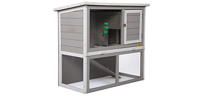 JAXPETY 2-Tier - Outdoor Hutch for Rabbits